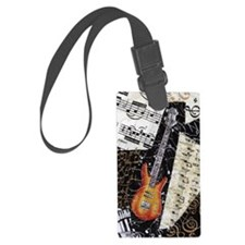 bass-guitar-ornament Luggage Tag