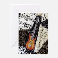 bass-guitar-ornament Greeting Card