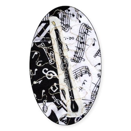 english-horn-ornament Sticker (Oval)