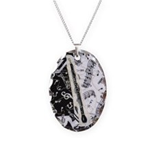english-horn-ornament Necklace Oval Charm