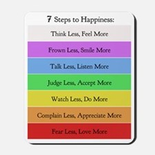 7 steps to happiness 16 x 20 copy Mousepad