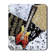 fire-guitar-ornament Mousepad
