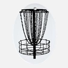 Sticker - Disc Golf Catcher Black Oval Ornament