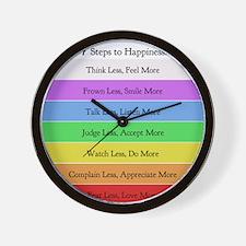 7 steps 10 x 10 Wall Clock