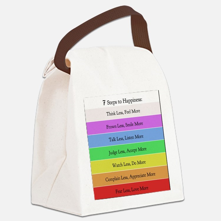 7 steps 10 x 10 Canvas Lunch Bag