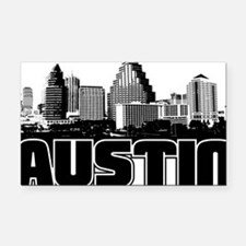 Austin Skyline Rectangle Car Magnet