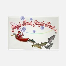 CAFE078JingleTroutColorFF Rectangle Magnet