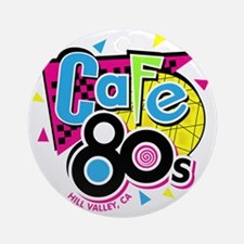 cafe80s Round Ornament