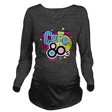 cafe80s Long Sleeve Maternity T-Shirt