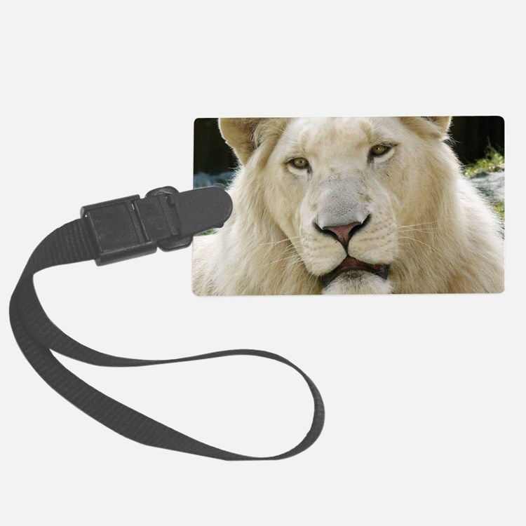 blonde lion note Luggage Tag