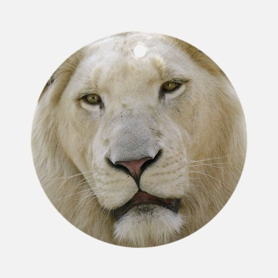 blonde lion note Round Ornament