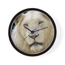 blonde lion pillow Wall Clock