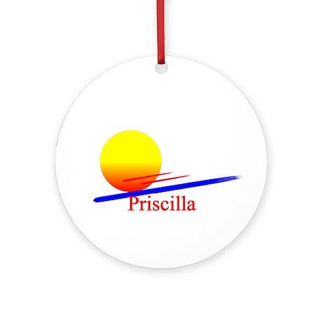 Priscilla Ornament (Round)