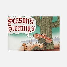 Seasons Greetings Senor Hsss Rectangle Magnet