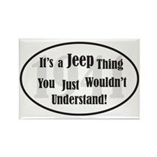 Jeep-2 Rectangle Magnet