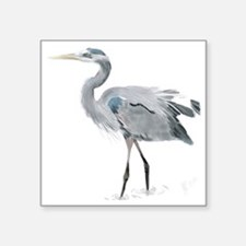 "heron Square Sticker 3"" x 3"""