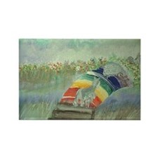 RbowPainting Rectangle Magnet