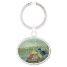 RbowPainting Oval Keychain