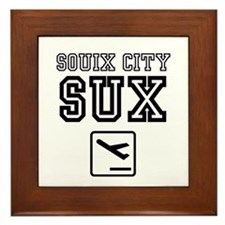 SOUIX CITY SUX - AIRPORT CODE SIGN Framed Tile