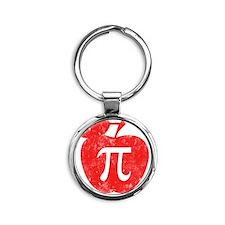 apple pie red Round Keychain