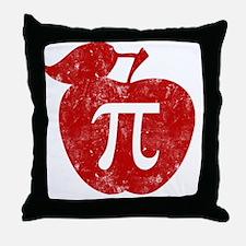 apple pie red bl Throw Pillow