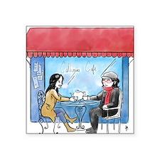 "Catherine Cafe Square Sticker 3"" x 3"""