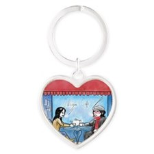 Catherine Cafe Heart Keychain