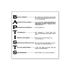 "Baptists Square Sticker 3"" x 3"""