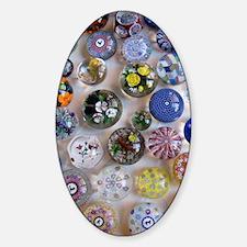 Glass-Balls-iPad 2 Sticker (Oval)