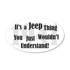 Jeep-3 Oval Car Magnet
