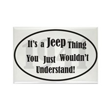 Jeep-3 Rectangle Magnet