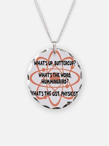 orange, Buttercup Necklace Circle Charm