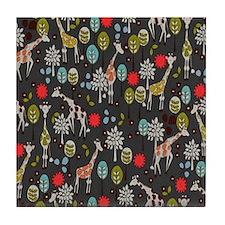 Giraffe Garden Tile Coaster