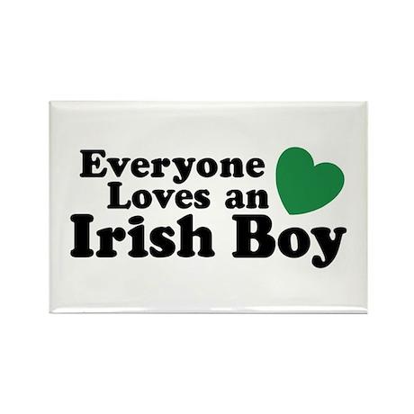Everyone loves an irish boy Rectangle Magnet