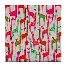 Giraffe Love copy Tile Coaster