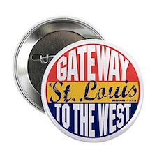 """St Louis Vintage Label B 2.25"""" Button"""