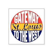 """St Louis Vintage Label B Square Sticker 3"""" x 3"""""""