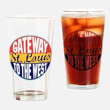 St Louis Vintage Label W Drinking Glass