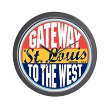 St Louis Vintage Label W Wall Clock
