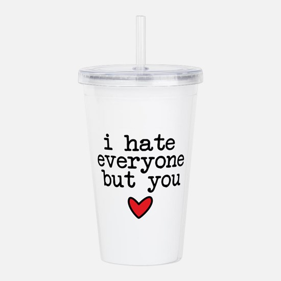 Hate Everyone Acrylic Double-wall Tumbler