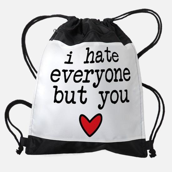 Hate Everyone Drawstring Bag