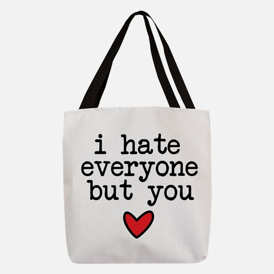 Hate Everyone Polyester Tote Bag