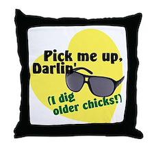 older chicks.gif Throw Pillow