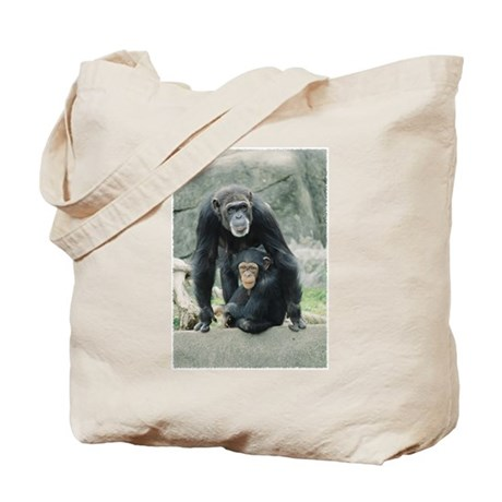 Chimps on Rock Tote Bag