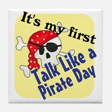 talk like a pirate.gif Tile Coaster