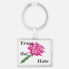 hate eraser1 Landscape Keychain