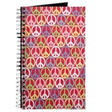 Glitter Peace Signs Journal