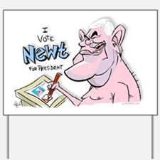 Newt Gingrich caricature Vote Newt by He Yard Sign