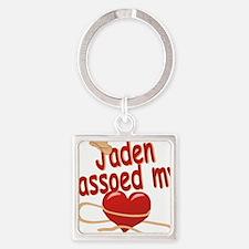 jaden-b-lassoed Square Keychain