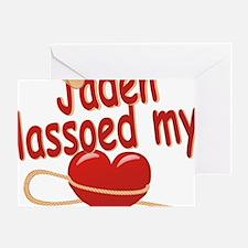 jaden-b-lassoed Greeting Card